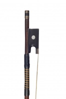 A French Silver-Mounted Violin Bow, possibly by A. J. Lamy