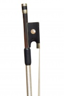 A German Nickel-Mounted Violin Bow by Bausch
