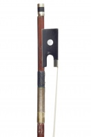 A French Nickel-Mounted Violin Bow by a member of the Bazin family