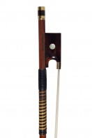 A French Gold-and-Tortoiseshell Mounted Violin Bow by Benoit Rolland