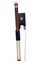 A Silver-Mounted Violin Bow, attributed to C. N. Bazin