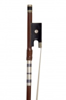 A French Nickel-Mounted Violin Bow, attributed to N. Maline