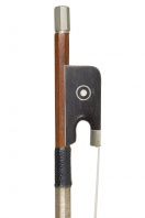 A French Nickel-Mounted Violin Bow by Morizot Freres