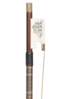 A Gold and Ivory-Mounted Viola Bow by Michael Taylor for Ealing Strings