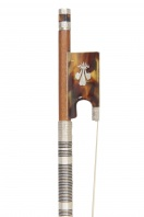 A Silver and Tortoiseshell-Mounted Violin bow by Michael Taylor