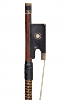 An English Nickel-Mounted Violin Bow by W. E. Hill & Sons