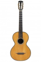 An English Guitar, labelled Boullangier