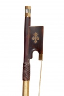 A Fine French Gold and Tortoiseshell-Mounted Violin Bow by B. Millant