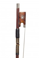A Silver and Tortoiseshell-Mounted Violin Bow by W. E. Hill & Sons