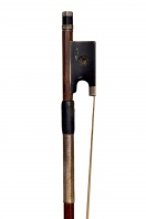 A German Silver-Mounted Violin Bow, School of L. Bausch