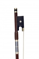 A French Nickel-Mounted Violin Bow, School of Peccatte