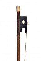 A Bone and Ebony-Mounted Violin Bow, possibly French