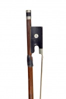 A German Nickel-Mounted Violin Bow by Arnold Voigt