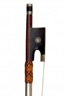 A French Nickel-Mounted Violin Bow, attributed to Marc Laberte