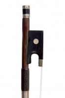 A Nickel-Mounted Violin Bow, school of Peccatte