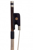 A French Silver-Mounted Double Bass Bow by Louis Bazin