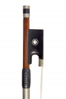 A French Nickel-Mounted Violin Bow by Louis Morizot
