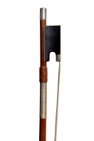 A German Silver-Mounted Violin Bow by Otto Hoyer