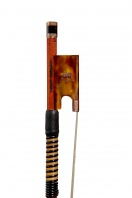 An English Chased Gold & Tortoiseshell-Mounted Violin Bow by William Watson