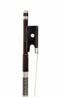 30 A French Silver-Mounted Violin Bow by Hippolyte Camille Lamy