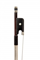 38 A French Nickel-Mounted Violin Bow by Emile Francois Ouchard