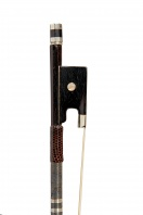 A French Nickel-Mounted Violin Bow, school of Simon