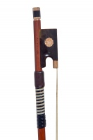 An English Gold and Tortoiseshell-Mounted Viola Bow by Arthur Bultitude