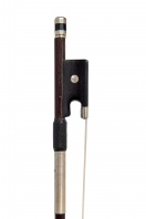 A French Nickel-Mounted Violin Bow, attributed to Nicolas Maline