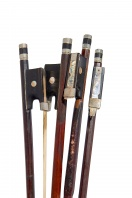 Four Nickel-Mounted Violin Bows