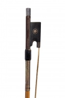An English Silver-Mounted Split-Cane Violin Bow by Lawrence Cocker