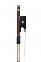 A French Nickel-Mounted Violin Bow by Paul Beuscher